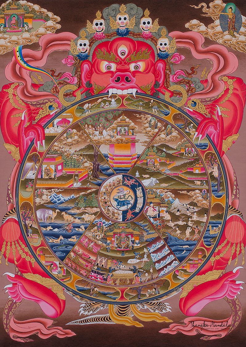 Thangka of the Wheel of Life