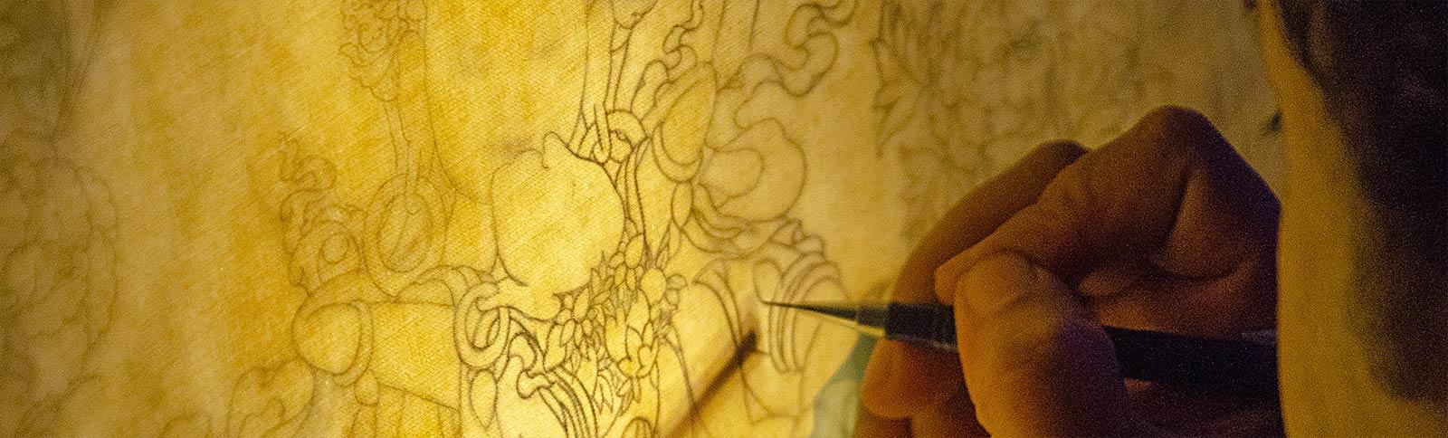 Painter Sketching