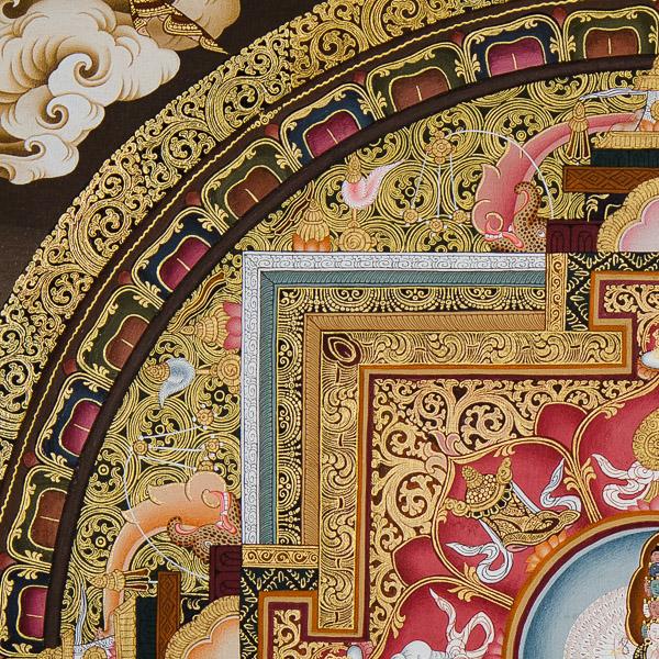 Mandala de Avalokiteshvara détail