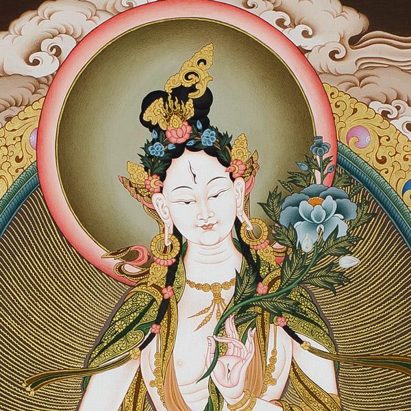 White Tara Thangka details