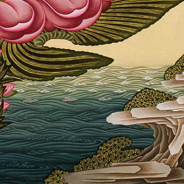 White Tara Thangka - detail